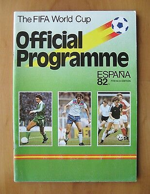 1982 World Cup - Official Programme / Brochure French Edition *Exc Condition*