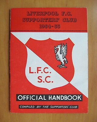 LIVERPOOL - Official Supporters Club Handbook 1964/1965 *Excellent Condition*
