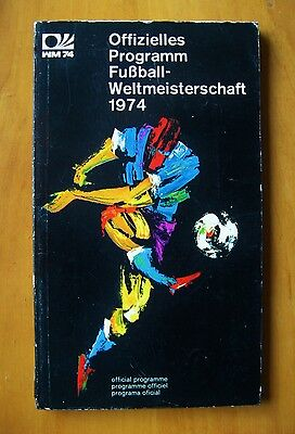 1974 World Cup - Official Programme / Brochure 144 Pages *VG Condition*