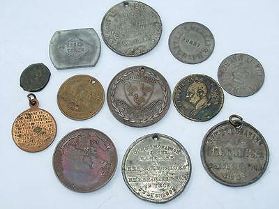 COLLECTION OF 19th & 20th CENTURY MEDALS MEDALLIONS & FOBS - LOT 169