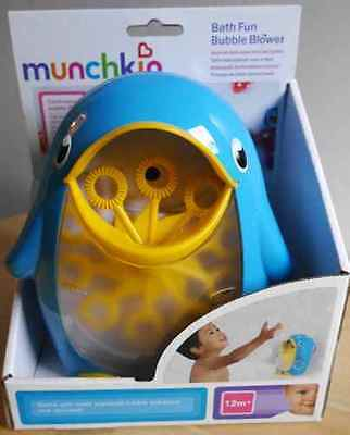 Lovely Munchkin Bath Fun Bubble Blower (Blue+Yellow Duck) 12M+ (Bubble Flow) New