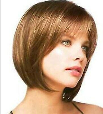 short straight hair beautiful fashion ladies light brown Wig/wigs+gift