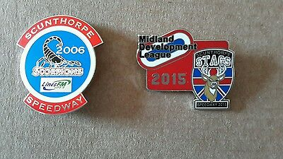 2 Scunthorpe Speedway Badges (Silver)