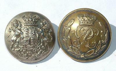 """Vc Victoria Crown Military """"vr"""" & Officers Buttons - Lot 9"""