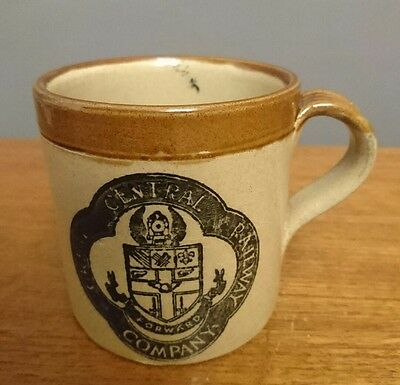 Vtg Retro Moira Farmhouse Stoneware Mug Cup Grand Central Railway Company