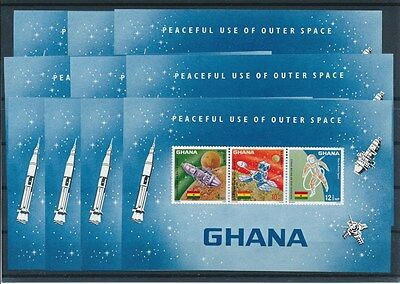 [G92003] Ghana 1967 Space 10x good imperforated sheet Very Fine MNH