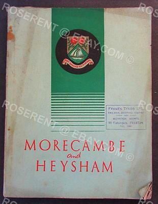 1939 Morecambe & Heysham - Lancashire - Holiday Guide - official Town Guide Book