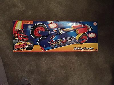 Folding Inline Scooter Blaze Kids Scooter Fun Game  New And Sealed!!