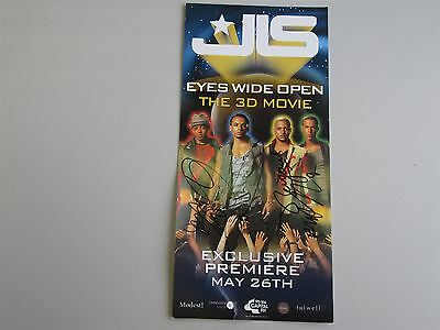 JLS - Hand Signed Autographed Movie Flyer/Ticket- Eyes Wide Open 3D Promo Invite