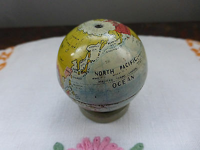 Vintage/antique miniature tin plate globe