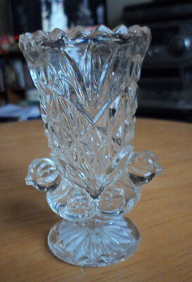 Tiny Bud Vase With 3 Chicks On The Base 8 Cm Tallvery Good . Unusual.