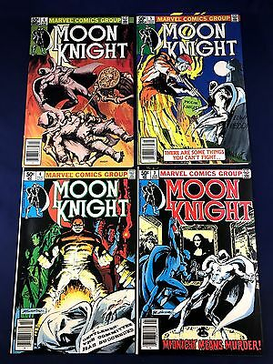 Moon Knight #3 4 5 6 Marvel Comics set lot NO RESERVE