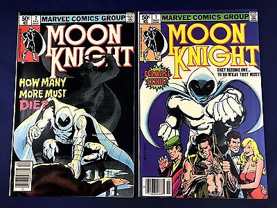 Moon Knight #1 2 Marvel Comics set lot NO RESERVE