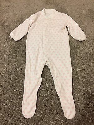 Baby Girls Pink & White Flower Sleep suit Age 3-6 Months From Tesco