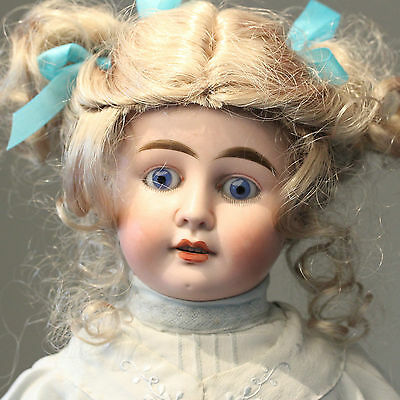 ANTIQUE FRENCH JULIEN WALKING DOLL No. 5 BLOWING KISS PORCELAIN BISQUE DOLL