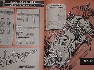 Suzuki 1964-1972 250 T10 T20 Super Six 6 T250 T350 Engine Service/profile