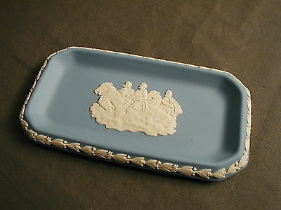 VINTAGE WEDGWOOD DRESSER TRAY - BLUE & WHITE - ENGLAND - COLLECTORS SOCIETY msb