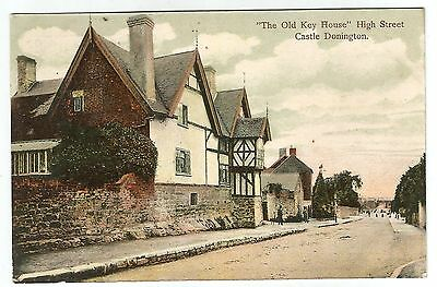 zx england leicestershire postcard english leicester Castle Donington