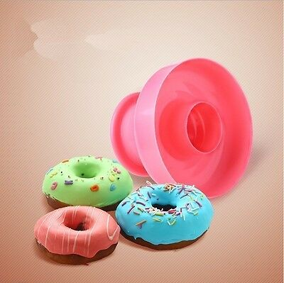 Plastic Donut Doughnut Cookie Cutter Pastry Pudding Cake Decor Mold Mould Tools