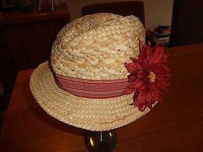 Next Girls Summer Hat with flower  - Age 14 - 16 Years