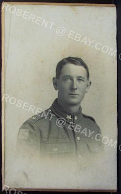 WW1 Canadian Regiment Private with Division Sign - Photo 10 by 6.5cm