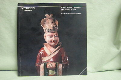 1984 Sotheby's Auction Catalog Fine  Chinese Ceramics & Works of Art