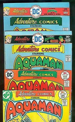 Lot of 4 1975-77 DC Comics ADVENTURE COMIC Featuring AQUAMAN comics