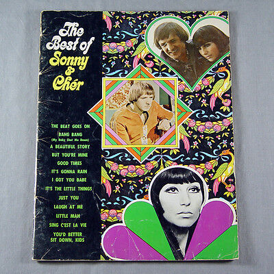 The Best of Sonny & Cher Song Book  Sheet Music Songbook Piano Vocal Guitar