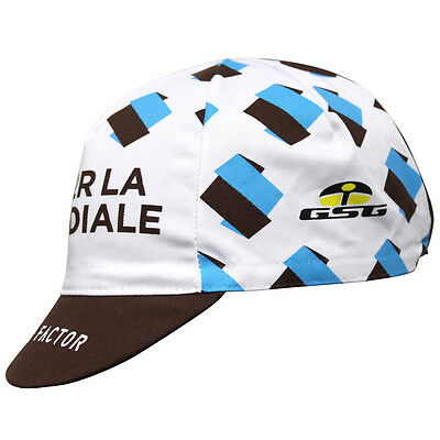 AG2R 2017 PRO CYCLING TEAM BIKE CAP - Fixed Gear - Made in Italy by GSG -