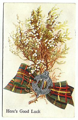 zx good luck from scotland scottish postcard