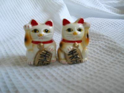 Pair of Small Lucky Cats