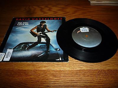 """David Hasselhoff. Do You Love Me. Rare South African Press 7"""" Vinyl Record"""