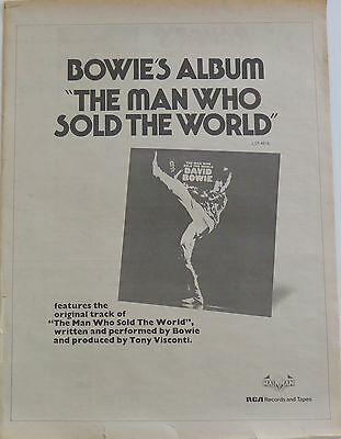 """David Bowie """"The Man Who Sold The World"""" UK full-page ad 1974 + Bonus"""