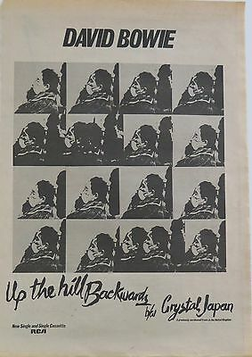 """David Bowie """"Up The Hill Backwards"""" full-page UK ad 1981"""