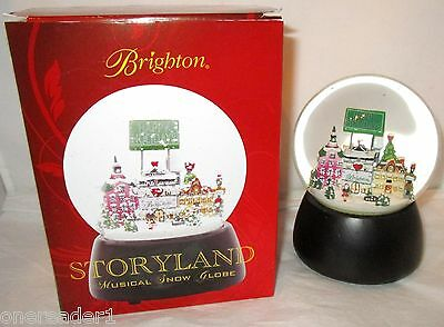 BRIGHTON STORYLAND MUSICAL SNOW GLOBE Holiday Limited Edition Let It Snow NEW