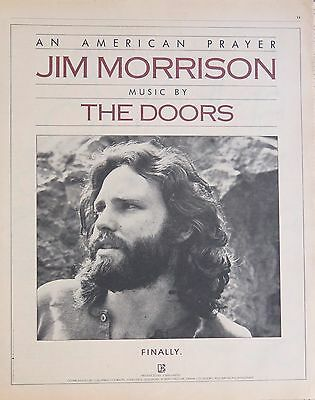 "Jim Morrison The Doors ""An American Prayer"" full-page US ad 1978"