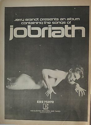 "Jobriath ""Jobriath"" full-page UK ad 1973"