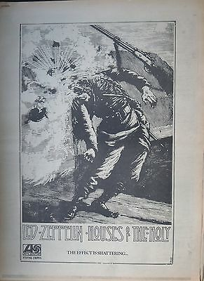 "Led Zeppelin ""Houses of the Holy"" full-page UK ad 1973 + Bonus x 3"