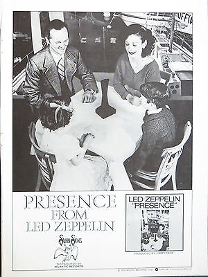 "Led Zeppelin ""Presence"" full-page US ad 1976 + Bonus C"