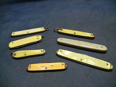 Lot Of 7 U.s.a. Made Vintage Pocket / Fob Knives