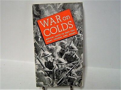 1934 War On Colds Smith Bros Cough Drops Smith Brothers Syrup Booklet Pamphlet