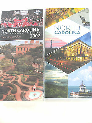 2007 North Carolina official state highway road map, plus 2017-18