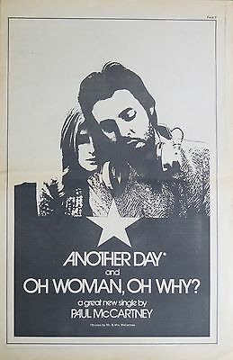 """Paul McCartney """"Another Day"""" full-page US ad 1971"""