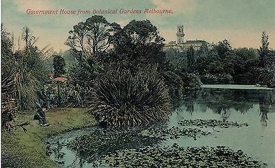 Vintage Postcard - Government House from Botanical Gardens, Melbourne Australia