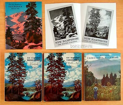 4 Maxfield Parrish NH TROUBADOUR Feb 1940 & POSTER AD 1938 & 1940 YEARBOOKS 1939