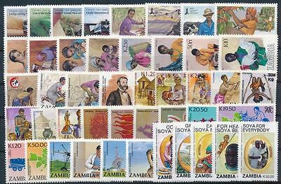 [G106009] Zambia Good lot of Very Fine MNH stamps