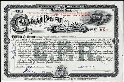 Canadian Pacific Railway Co, 4% Consolidated Debenture Stock
