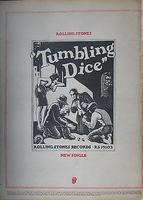"""Rolling Stones """"Tumbling Dice"""" UK full-page ad 1972"""