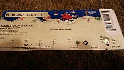 Ticket Fifa Confed Cup 2017 Match 03 Chile - Cameroon ( mint )