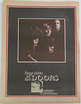 "The Doors ""Weird Scenes Inside the Goldmine"" full-page ad UK 1972 + Bonus"